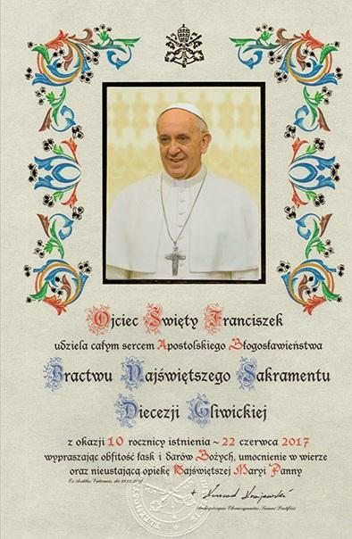 Apostolskie Błogosławieństwo Ojca Świętego Franciszka